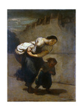 The Burden, 1850-1852 Reproduction procédé giclée par Honore Daumier