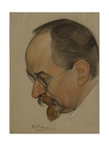 Portrait of Georgy Vasilyevich Chicherin, 1921 Giclee Print by Nikolai Andreevich Andreev