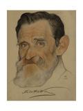 Portrait of Feliks Yakovlevich Kon (1864-194), 1922 Giclee Print by Nikolai Andreevich Andreev