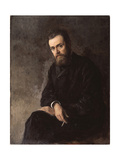 Portrait of the Author Gleb Uspensky (1843-190), 1884 Giclee Print by Nikolai Alexandrovich Yaroshenko