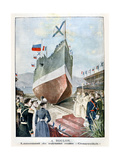 At Toulon, Launching the Russian Battleship Cesarevitch, 1901 Giclee Print
