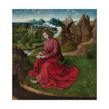 Saint John the Evangelist on Patmos, Ca 1465 Giclee Print by Dirk Bouts