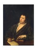 Portrait of the Poet Ivan A. Krylov (1769-184), 1812 Giclée-Druck von Roman Maximovich Volkov