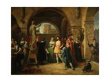 Francis I in the Studio of Benvenuto Cellini, 1837 Giclee Print by Francesco Podesti