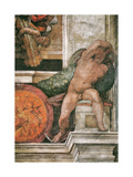 Detail of the Sistine Chapel Ceiling in the Vatican, 1508-1512 Giclee Print by  Michelangelo