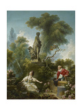 The Progress of Love: the Meeting, Ca 1773 Giclee Print by Jean-Honoré Fragonard