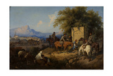 Russian Forces Crosses the Caucasus Mountains in Adjara, 1872 Giclee Print by Gottfried Willewalde