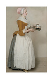 The Chocolate Girl (La Belle Chocolatière De Vienn), C. 1745 Giclee Print by Jean-Étienne Liotard