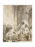 The Competition (Le Concour) Reproduction procédé giclée par Jean-Honoré Fragonard