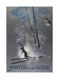 Winter in the USSR (Poster of the Intourist Compan), 1935 Giclee Print by Nikolai Nikolayevich Zhukov