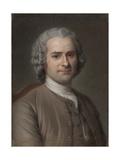 Portrait of Jean-Jacques Rousseau (1712-177) Giclee Print by Maurice Quentin de La Tour