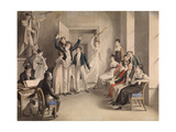 Franz Schubert (1797-182). Party Game of the Schubertians in Atzenbrugg, 1821 Giclee Print by Leopold Kupelwieser