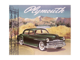 Poster Advertising the Plymouth Special De Luxe Sedan, 1950 Giclee Print