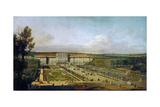 Schönbrunn Palace Viewed from the Gardens, Between 1758 and 1761 Giclee Print by Bernardo Bellotto