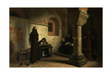 Bernard Délicieux before the Inquisition Tribunal, Ca 1881 Giclee Print by Jean-Paul Laurens