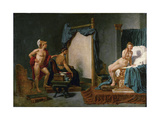 Apelles Painting Campaspe in the Presence of Alexander the Great Giclee Print by Jacques Louis David