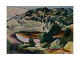Korolkovskiye Dachas. Pond in the Hills, 1918 Giclee Print by Alexei Ilyich Kravchenko