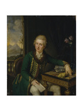 Portrait of Count Michael Johann Von Der Borch (1751-181) Giclee Print by Ludwig Guttenbrunn