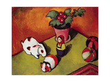 Little Walter's Toys, 1912 Giclee Print by August Macke