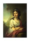Portrait of Yekaterina Vasilyevna Torsukova, 1795 Giclee Print by Vladimir Lukich Borovikovsky