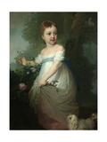 Portrait of Yelena Naryshkina as Child, Early 1790S Giclee Print by Vladimir Lukich Borovikovsky