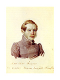 Portrait of Decembrist Alexander Belyaev (1803-188), 1832-1833 Giclee Print by Nikolai Alexandrovich Bestuzhev