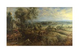 A View of Het Steen in the Early Morning, Ca 1636 Giclee Print by Pieter Paul Rubens