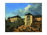 The Academy Courtyard (The Old Academy in Düsseldor), 1831 Giclee Print by Andreas Achenbach