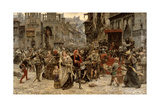 Valdemar Atterdag Holding Visby to Ransom, 1361, 1882 Giclee Print by Carl Gustaf Hellqvist