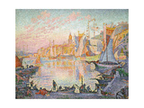 The Port of Saint-Tropez, 1901-1902 Gicléetryck av Paul Signac