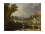 The Finding of the Infant Moses by Pharaoh's Daughter, 1636 Giclee Print by Bartholomeus Breenbergh