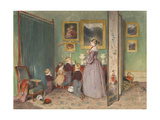 The Evening Prayer (Archduchess Sophie with Childre), 1839 Giclee Print by Peter Fendi