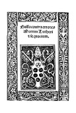 Title Page of Leo X's Papal Bull, 1520 Giclee Print