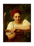 A Peasant Girl of Tver Region, 1840 Giclee Print by Alexei Gavrilovich Venetsianov