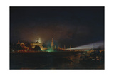 Illumination of the Moscow Kremlin, 1883 Giclee Print by Alexei Petrovich Bogolyubov