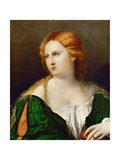 Young Woman in a Green Dress, a Box in Her Hand, Ca 1514 Giclee Print by Jacopo Palma Il Vecchio the Elder