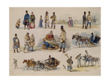 Folk Types of Russia, 1845 Giclee Print by Karl Ivanovich Kolmann