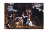 Christ in the Wilderness, Served by Angels, Ca 1608 Giclee Print by Lodovico Carracci