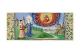 Philosophy Instructing Boethius on the Role of God, Ca 1465 Giclee Print