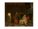 Woman and Child with Serving Maid, 1663-1665 Giclee Print by Pieter de Hooch