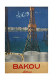 Baku (Poster of the Intourist Compan), 1936 Giclee Print by Maria Alexandrovna Nesterova-Berzina