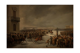 The Decembrist Revolt at the Senate Square on December 14, 1825 Giclee Print by Vasily Timm