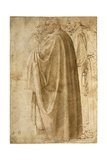 Three Standing Men in Wide Cloaks Turned to the Left, Ca 1492-1496 Giclee Print by  Michelangelo Buonarroti