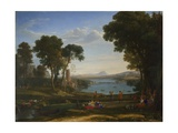 Landscape with the Marriage of Isaac and Rebecca, 1648 Giclee Print by Claude Lorrain