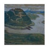 Gorodishche (Old Slavic Fortified Settlemen) Giclee Print by Nicholas Roerich