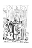 Calvin, Luther and the Pope Fighting Each Other, Published 1600 Giclee Print