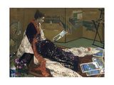 Caprice in Purple and Gold: the Golden Screen, 1864 Giclee Print by James Abbott McNeill Whistler