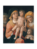 The Madonna and Child with Saints Joseph, Elizabeth, and John the Baptist Giclee Print by Andrea Mantegna