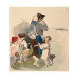 Children on their Way to Work in the Fields, C. 1840 Giclee Print by Peter Fendi