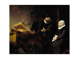 The Mennonite Preacher Anslo and His Wife, 1641 Giclee Print by  Rembrandt van Rijn